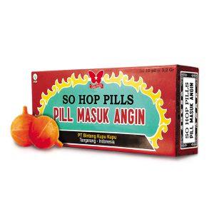 Obat Herbal Pil Sakit Masuk Angin So Hop Pills Cap Kupu-Kupu Gloherbal Bintang Kupu Kupu